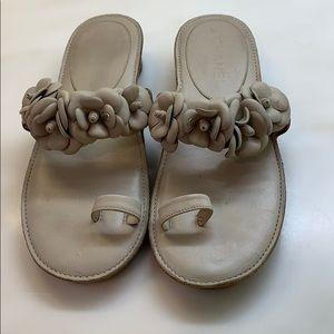 CHANEL Shoes - Authentic Chanel Camellia sandals